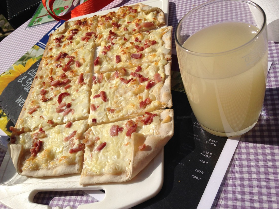 German street food Flammkuchen