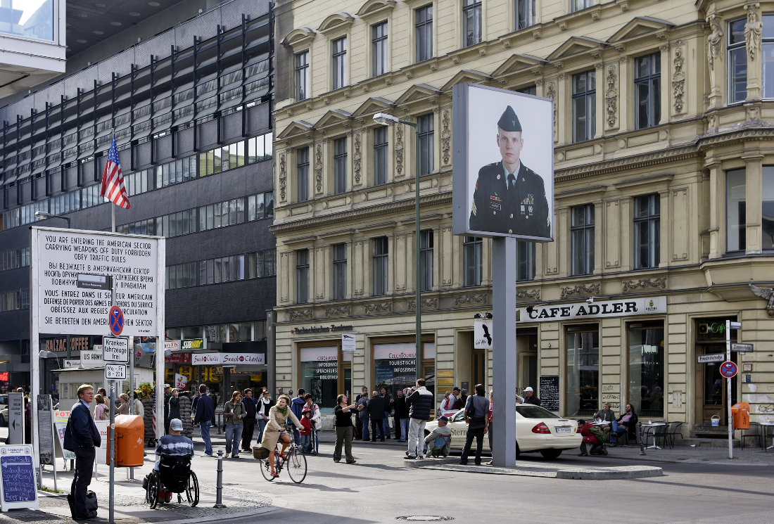 Fall of the Berlin Wall Checkpoint Charlie