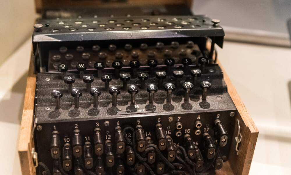 Nazi Enigma machine recovered from Baltic seabed