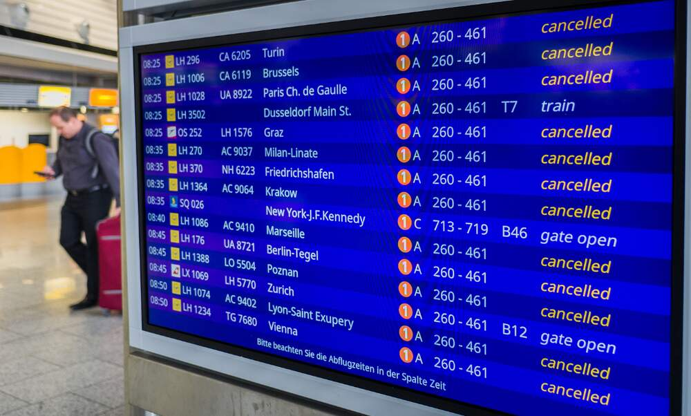 Nationwide Lufthansa cabin crew strike this Thursday and Friday