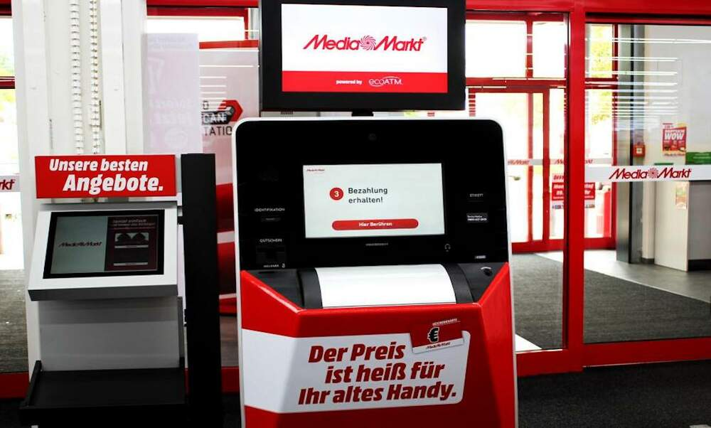 German shoppers can now recycle their old phones in store and receive money instantly