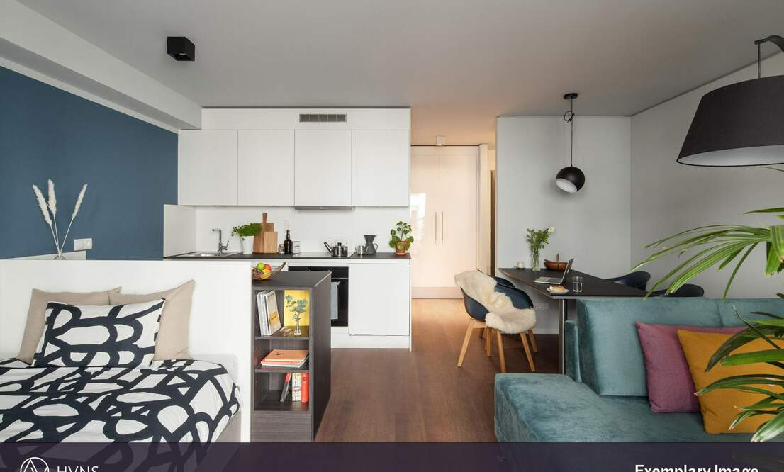 *HVNS* Modern and fully furnished Studio, Gym, Concierge, Co-Working Space