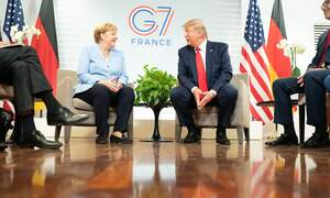 "[Video] Angela Merkel snorts at Trump's ""I have German in my blood"""