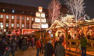 Germany's first Christmas market has already opened