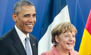Obama praises German Chancellor Angela Merkel in new memoir