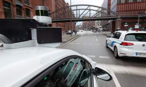 Self-driving cars tested on Hamburg's roads