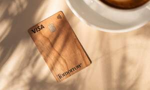 Tomorrow: A wooden card for a new, future-friendly banking experience