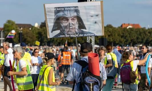 Leader of German anti-lockdown group hospitalised with coronavirus