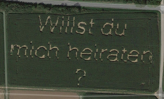 German man's marriage proposal immortalised on Google Maps